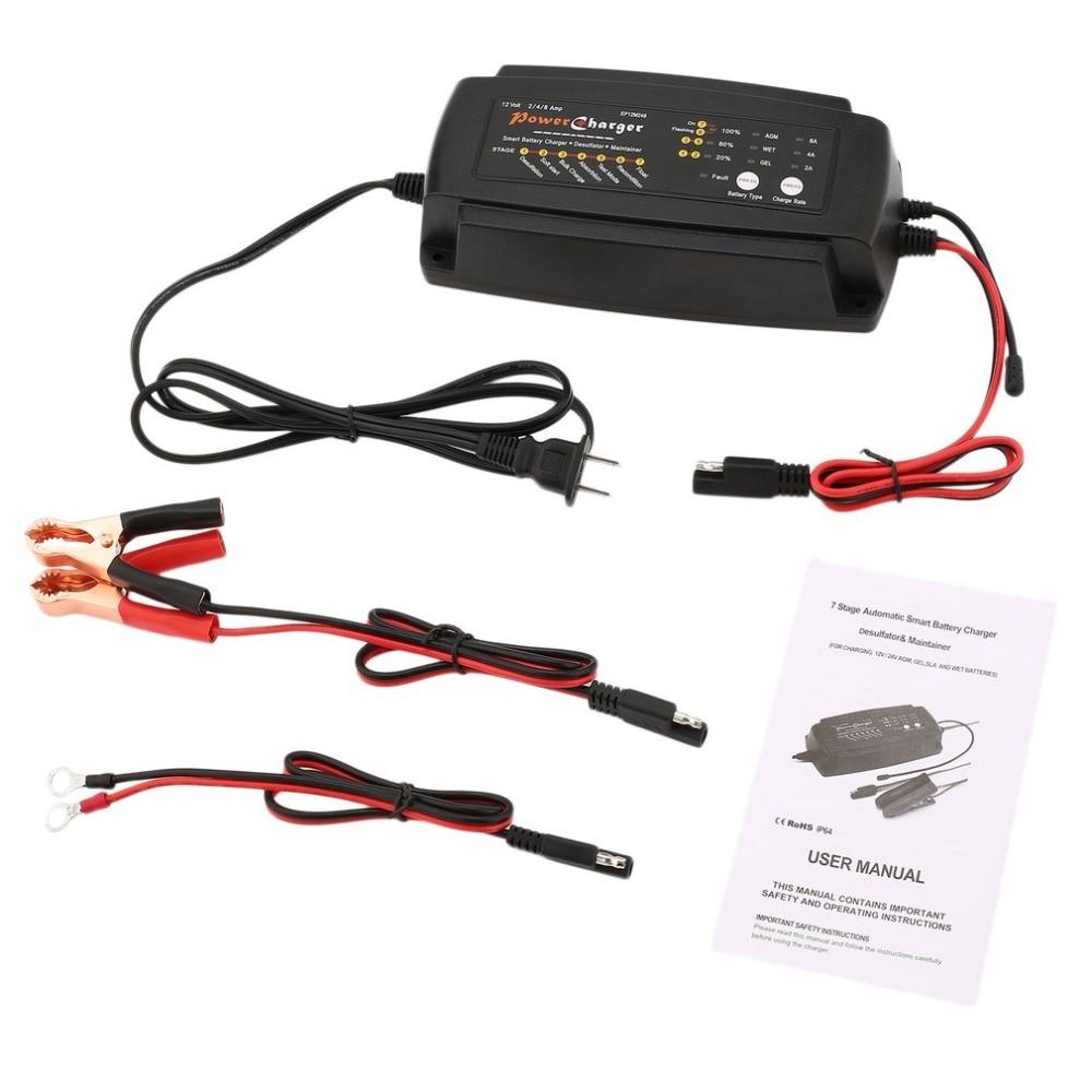 Nouveau 12 v 2A 4A 8A Intelligent Rapide Voiture Moto Batterie Chargeur Automatique Électrique De Charge Multi-fonction LED Panneau