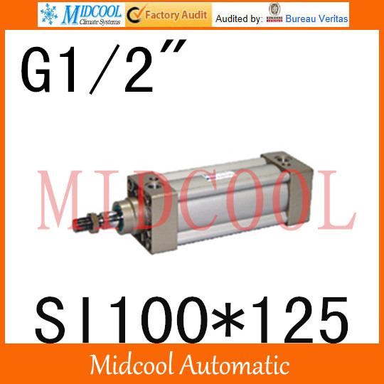 SI series ISO6431Standard cylinder SI100*125  port 1/2 bore 100mm Adjustable cylinder iso 100 в перми