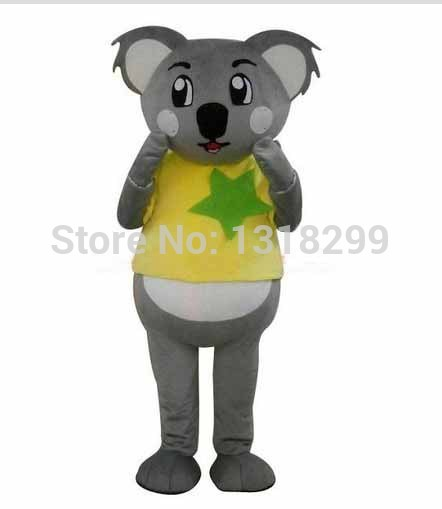 Mascotte Jaune Manteau Koala costume de mascotte fantaisie robe personnalisé fantaisie costume cosplay thème mascotte carnaval costume