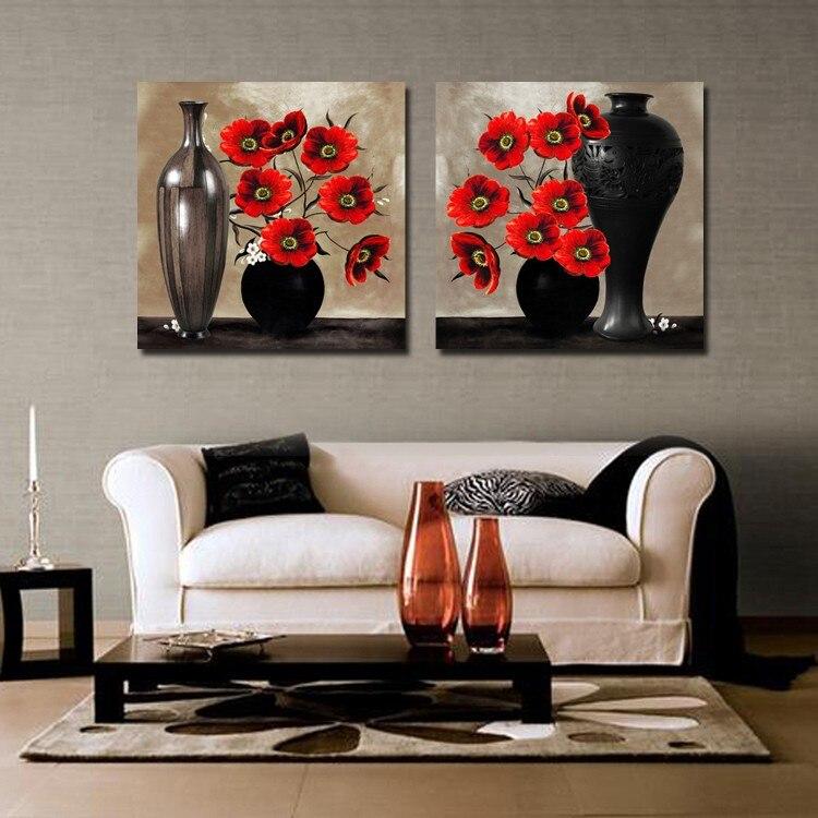 2 Piece Canvas Wall Art Cuadros Decoracion Abstract ...