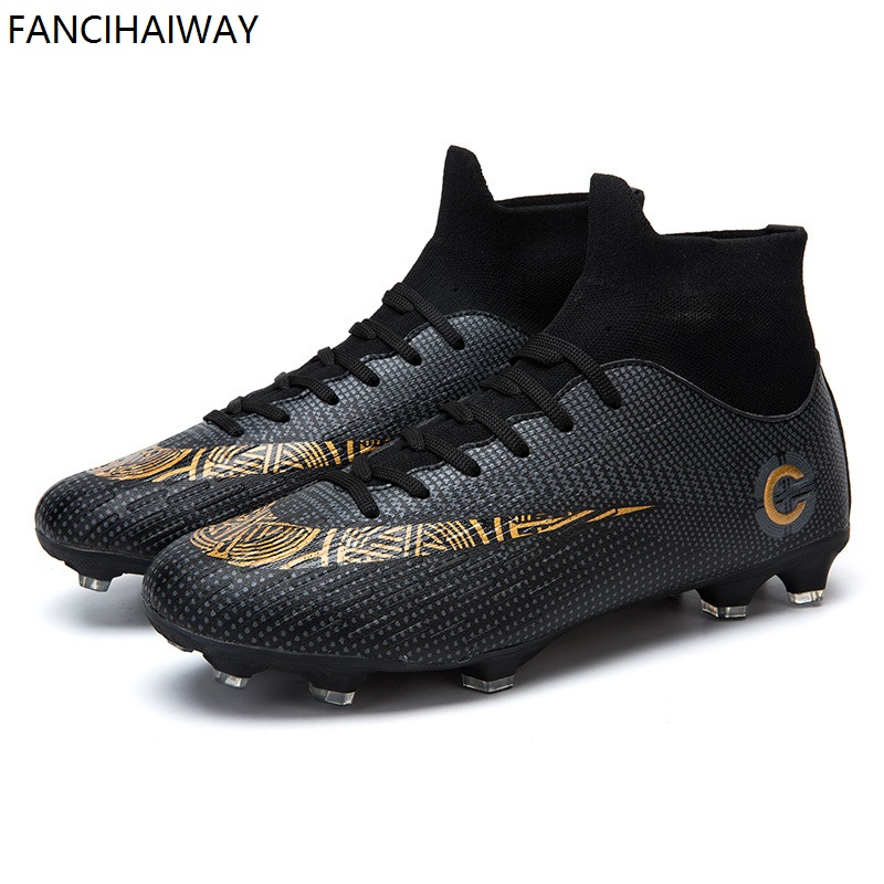 8960ed449bcc FANCIHAWAY 2018 New FG Football Soccer Shoes Men TF High Ankle Outdoor  Cleats Turf Superfly futbol Wome Sneakers 12