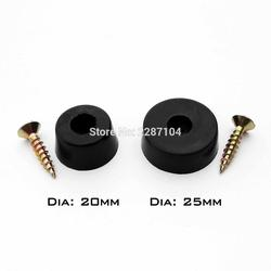 12x Black Duable Soft Rubber Furniture Chair Table Feet Leg Bottom Anti-skid glides shock Floor Protector Non-noise Screw on Pad