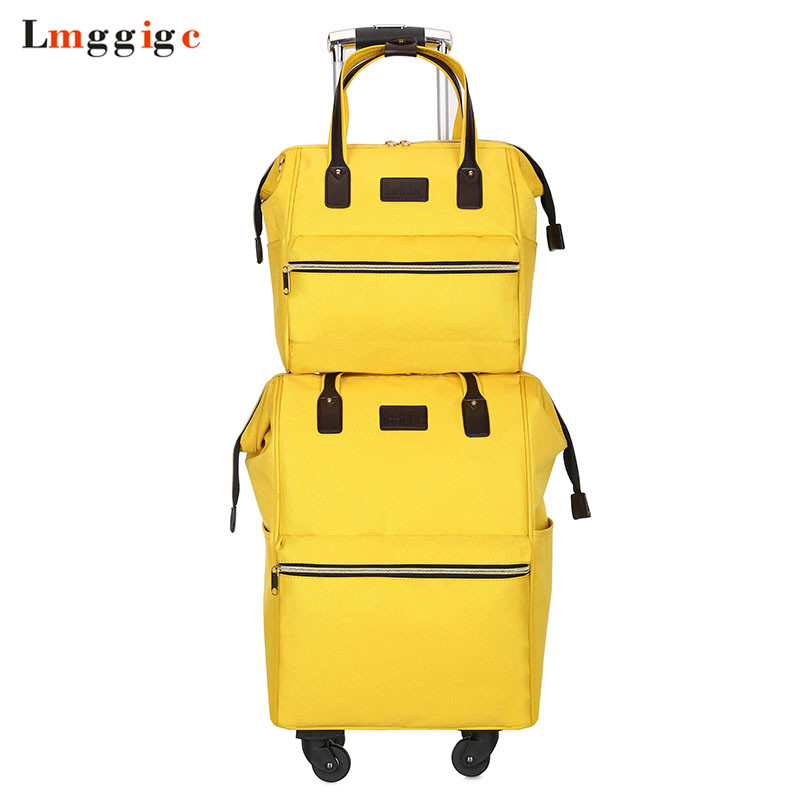 Rolling Cabin Luggage set Travel Suitcase Bag Oxford cloth Trolley Case Nniversal wheel Carry On  soft box with backpack|Luggage Sets| |  - title=