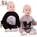 Spring and Autumn Baby Fashion Simple Letters Leotard Climbing Clothes Cotton Soft and Comfortable  ATLL0058