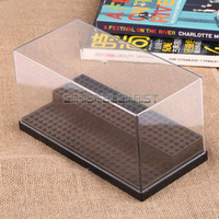 2 Step Clear Display Case Acrylic Plastic Black Base Box For Lego Minifigures Free Shipping
