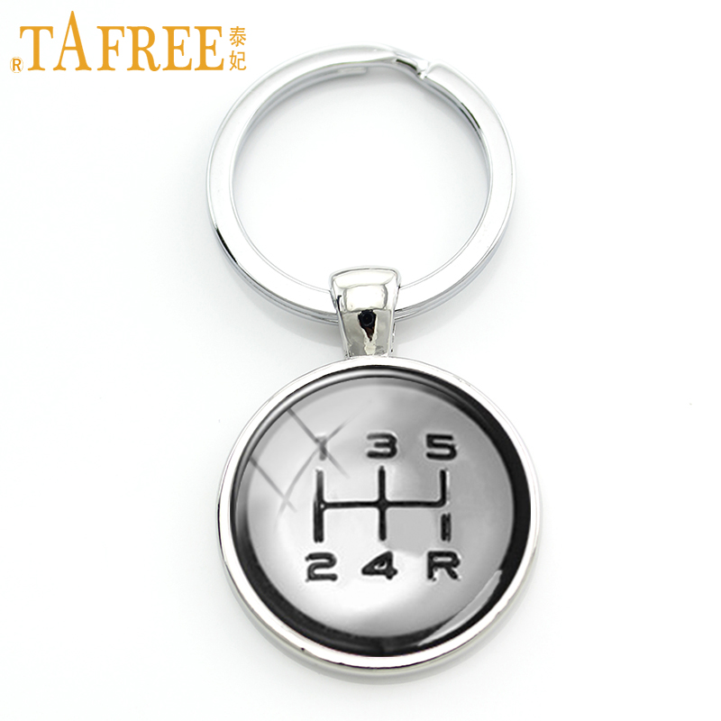 TAFREE Gear Shift Keychain Fashion Drivers Jewelry Shift Knob Key Chain High Quality Handmade Driving Lovers Special Gift KC401