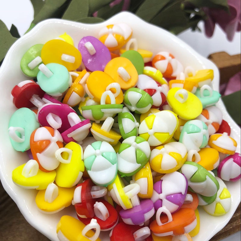 10/50/100 pcs 14mm hat Plastic Button/craft backhole lot Mix PT68