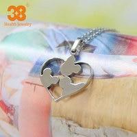 Valentines Gift Hart Medaillon Ketting Sieraden Groothandel 2015 Nieuwe Romantische Hart Hanger Voor Vrouwen gratis verzending