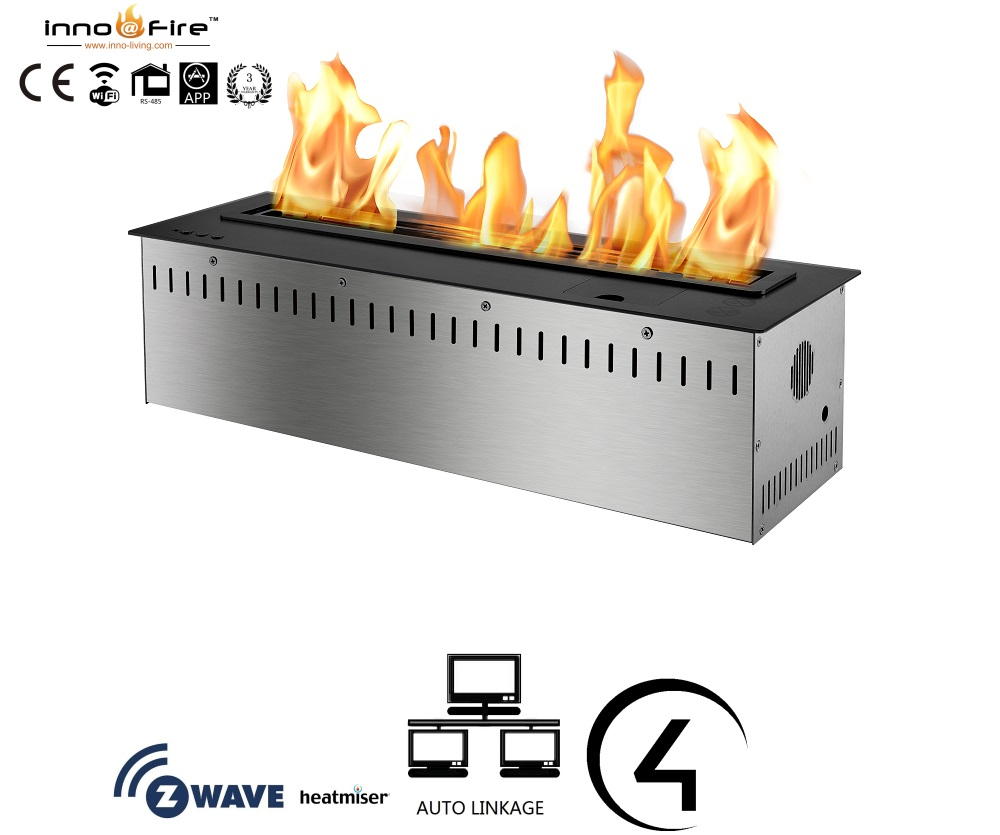 Inno Living Fire 48 Inch Automatic Bio Ethanol Fireplace Stainless Steel Burner