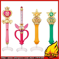 SALE Original Bandai Sailor Moon Crystal 20th Anniversary Gashapon Sailor Moon Wand Charm Part 2 Henshin Rod & Stick Set