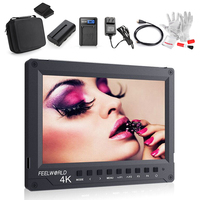 Feelworld A737 Monitor 7 Full HD 1920x1200 4K HDMI with Battery+Charger+HDMI Cable+Power Adpater+Protective Case for DSLR Canon