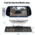"""HD 7 """"LCD Espelho de carro Monitor de estacionamento DVD/VCD/GPS/TV de Tela + Europa Placa Quadro de Carro Retrovisor Camera W/4 LED Night Vision"""