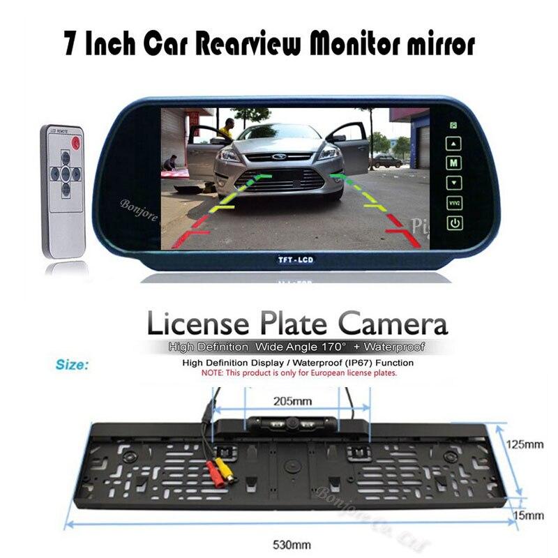 HD 7 LCD car Mirror font b Monitor b font parking DVD VCD GPS TV Screen