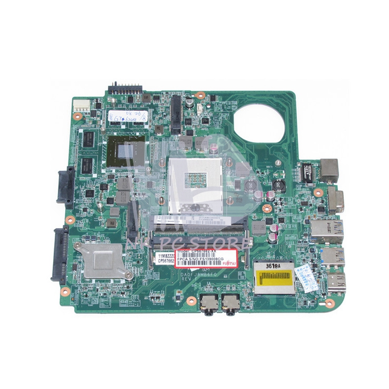 For Fujitsu lifebook LH532 Laptop Motherboard DA0FJ8MB6F0 HM76 DDR3 GT620M 2GB Video Card парктроник parkmaster 8 fj 27