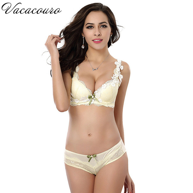2017 Sexy Elegant Bra and Panties Set Women Bras Underwear Push Up Bra set Luxury Lingeries Lace Embroidery Bra Brief Set BS8