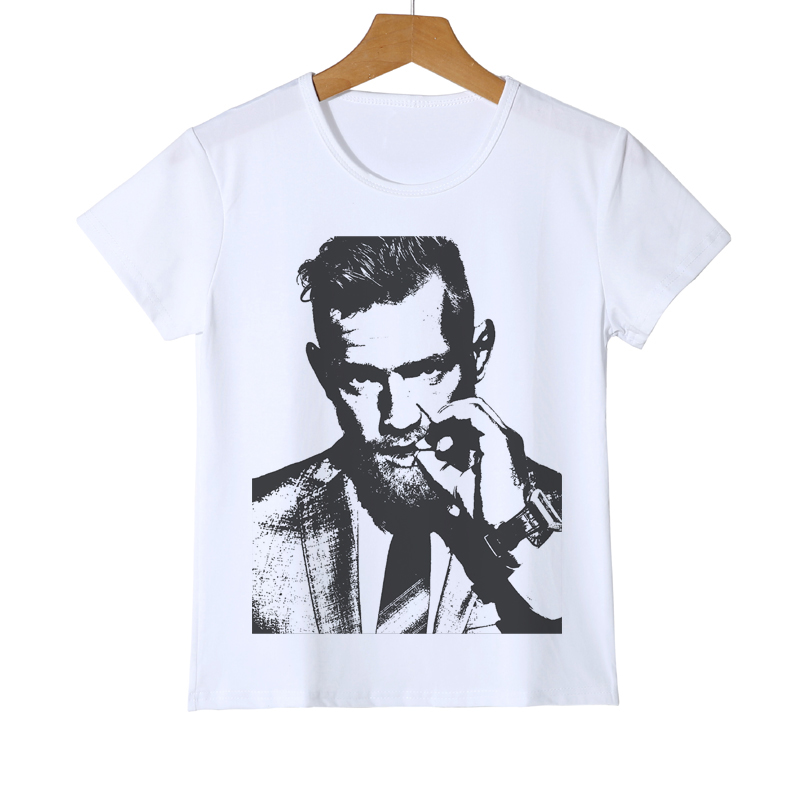 2019 New Style Kid T-shirt Brand Mma Conor Mcgregor Funny Children's T Shirt Boxer Crossfit White Boys Girls Casual Tees Hipster Y8-68