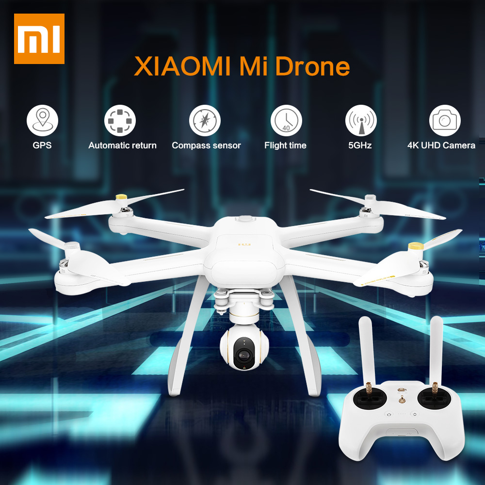 Original XIAOMI Mi Drone HD 4K WIFI FPV 5GHz Quadcopter 6 Axis Gyro Gimbal WiFi APP Control Helicopter HD Video Record Remote original xiaomi camera drone hd 4k wifi fpv 5ghz quadcopter 6 axis gyro 3840 x 2160p 30fps rc quadcopters with pointing flight