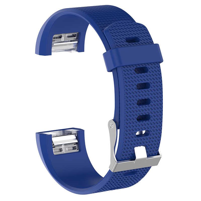 Сменный Браслет для браслета FitBit Charge 2 мягкий силиконовый ремешок на запястье, наручные часы браслет ремешок для умных часов