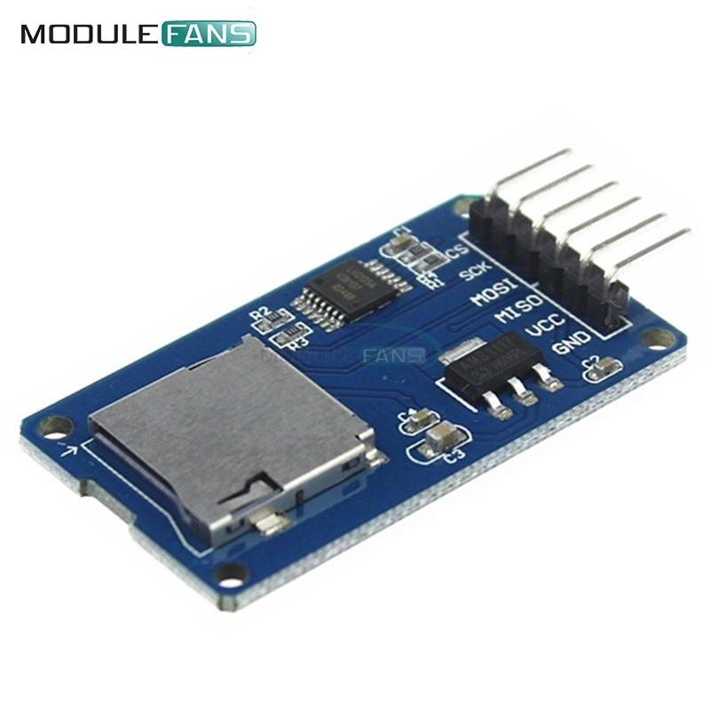 2 шт. Micro SD для хранения Совета Mciro адаптер SD карты памяти щит памяти Модуль расширения SPI для Arduino AVR микроконтроллер 3.3 В