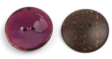 Цветная круглая Кокосовая декоративная кнопка, большая Деревянная пряжка, сделай сам, пальто для одежды, Кокосовая оболочка, клеевая кнопка, Детская Кнопка 63 мм - Цвет: 3