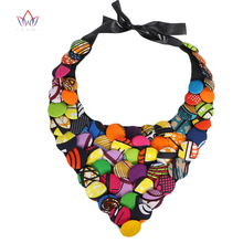 2017 African Ankara Button Necklace African clothing African Multi color Button Covered Necklace Hot Design WYB093  african symbolism