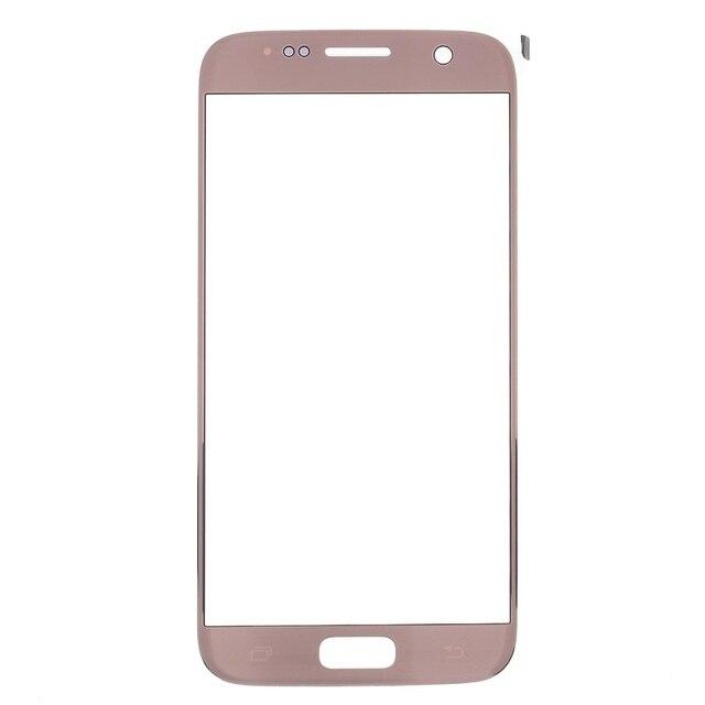 Для Galaxy S7 Замена Частей OEM Внешний Экран Замена Стекло Объектива для Samsung Galaxy S7 G930-Розовое Золото
