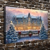 H1398 Thomas Kinkade Christmas Snow Scenery HD Canvas Print Home Decoration Living Room Bedroom Wall Pictures