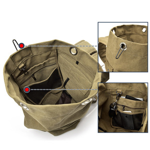 Image 5 - Large Man Travel Bag Mountaineering Backpack Male Luggage Canvas Bucket Shoulder Army Bags For Boys Men Backpacks mochilas XA88C