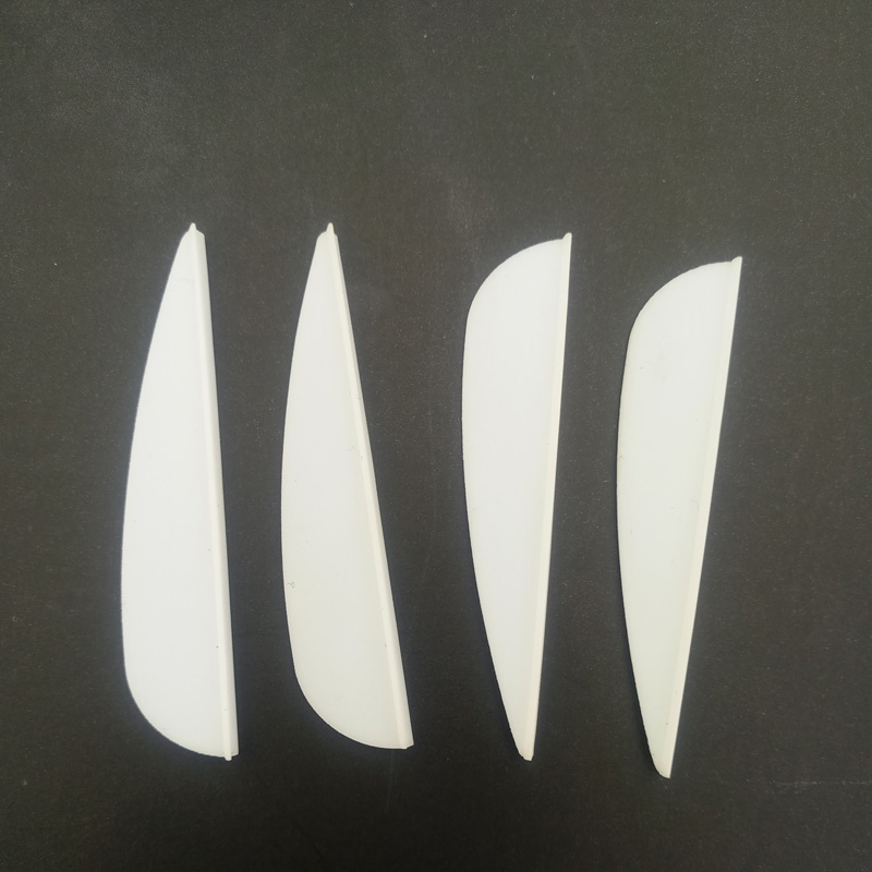 Image 3 - 50 шт. 2icnh резиновое перо 2 цвета стрельба из лука пластик Fletch Vanes для смешанных углеродных стрельба из лука, Охота Стрельба аксессуар-in Лук и стрела from Спорт и развлечения