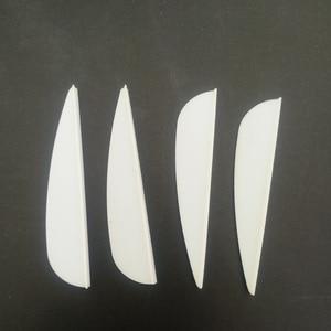 Image 3 - 50 pièces 2icnh caoutchouc plume 2 couleurs tir à larc en plastique Fletch Vanes pour mixte carbone flèche tir à larc chasse tir à larc accessoire