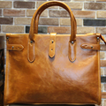 KIBDREAM New Vintage Style  PU  Men Briefcase Bag Solid Office Men Business File Bag Laptop Handbag Fashion Coffee