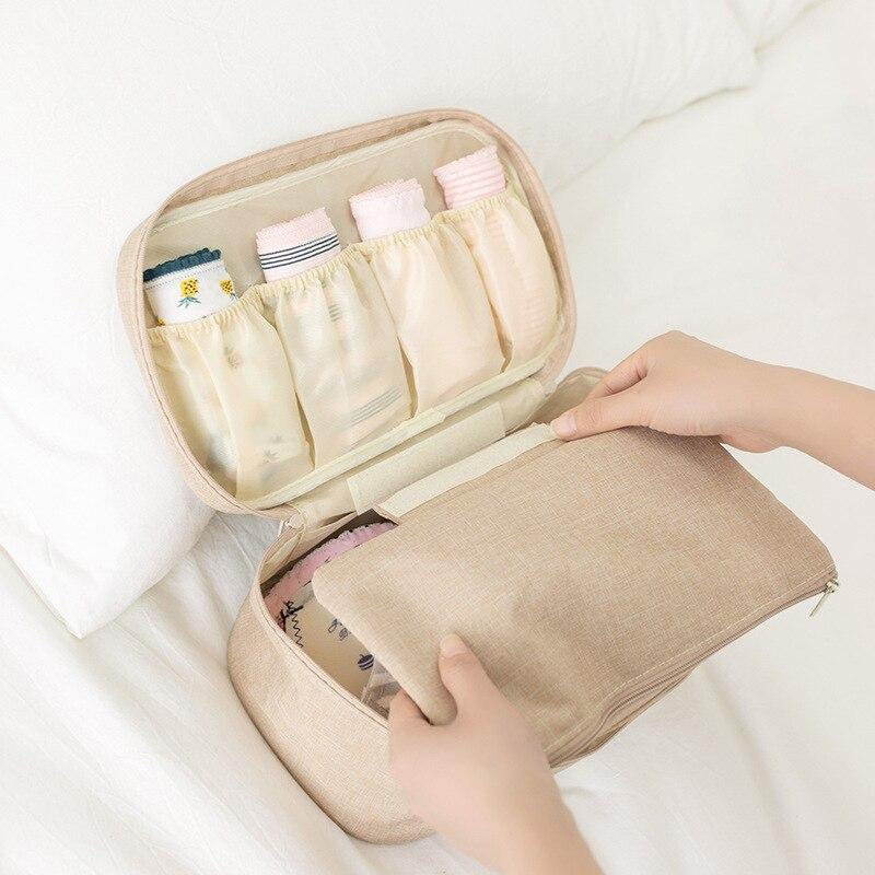 Women Underwear Bra Socks Bag Ladies Travel Organizer Necessity Girl Bra Cosmetic Case Makeup Bag Cosmetic Bags Beautician Pouch