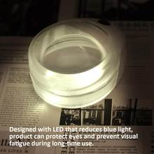 Rechargeable Adjustable Headband Eyeglass Magnifier Eyewear Loupe Magnifying Glass with LED Lamp USB Cable for Reading Repair(China)