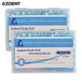 2 Caixas de 0.7mm Repetidamente Presente Palitos Dental Oral Care Interdental Floss Palito Escova Escovas Limpador de Língua