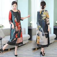 Summer Silk Chiffon Dress for Women Plus Size High Quality 2019 Dresses Woman Party Night Elegant Vintage Midi Robe Clothing