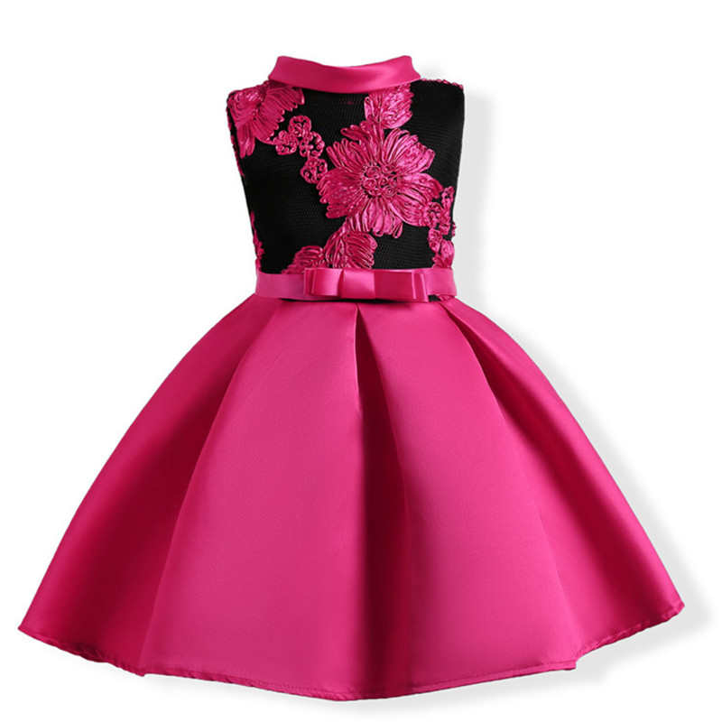 Baby Girl Princess Dresses Embroidery Kids Clothes Wedding Dress For Birthday Party Kids Toddler Clothing Children Custumes summer new baby girl clothes sleeveless birthday party wedding girls dress princess bow lace children clothing dresses for kids