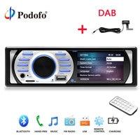 Podofo 1Din Car MP5 Player Radios Auto Audio Stereo Autoradio 12V In dash 1 Din Car Radio FM Bluetooth Stereo Audio Support DAB
