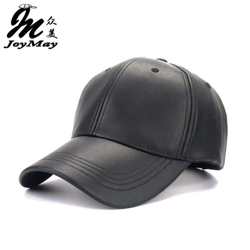 2016 New High quality Unisex cap PU solid color HIP HOP snapback Baseball Cap Adjustable HAT B325