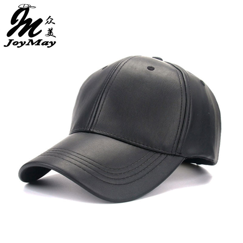 2016 Neue Hohe Qualität Unisex Kappe Pu Einfarbig Hip Hop Snapback Baseball Kappe Einstellbar Hut B325 Waren Des TäGlichen Bedarfs