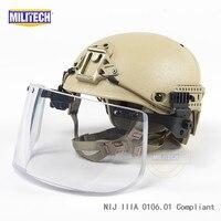 Де Тан планера CP Air рамка вентиляцией NIJ IIIA 3A пуленепробиваемый шлем козырек Набор Дело Баллистических Шлем Щит пуленепробиваемые маска