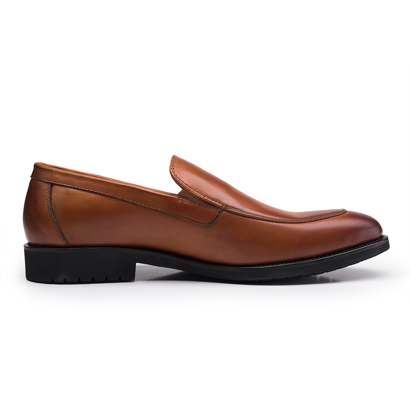 Hombres Black Mocasines Trajes Zapatos Slip Negro Del Nuevo Marrón On brown Clásico Negocio Hombre Negocios 2018 Los Moda De Vestido ISUwq