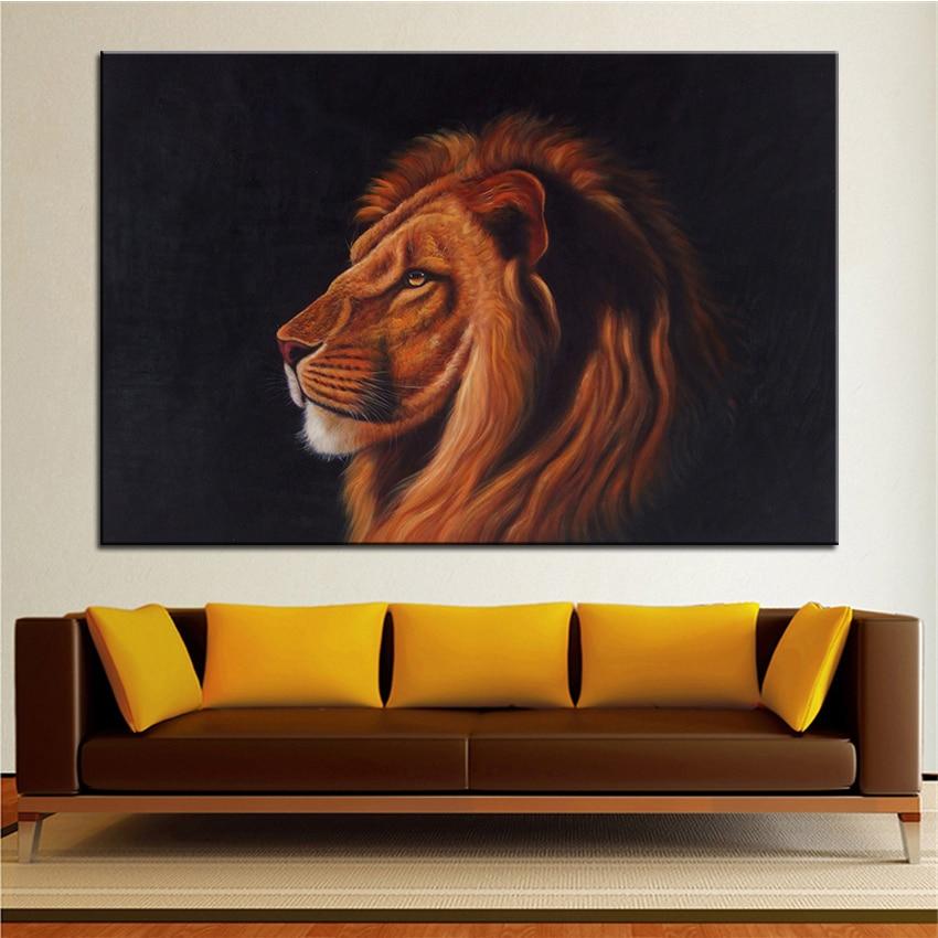 buy wall art wall decor wall painting lion head digital oil painting print. Black Bedroom Furniture Sets. Home Design Ideas