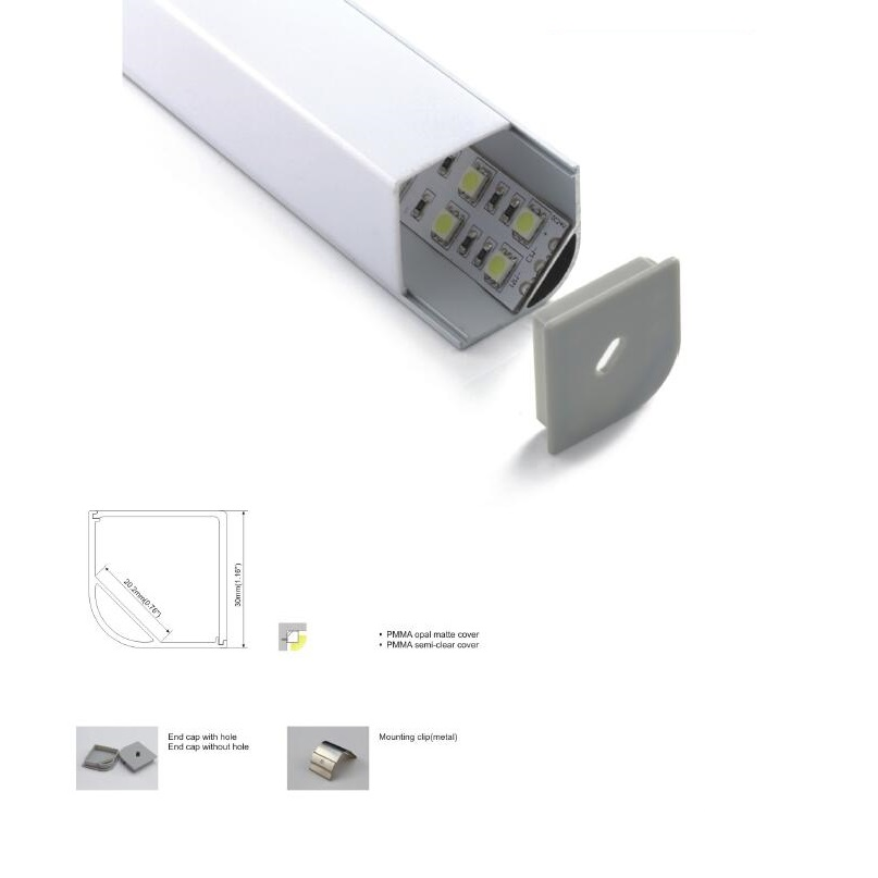 15 Set X 2 M Große Größe Ecke Montieren Led Streifen Aluminium Kanäle, High Power Jumbo Aluminium Led Profil