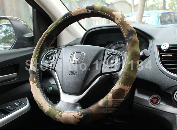 Calssic-Man-Wave-Camo-Cloth-Auto-Grip-Steering-Wheel-Covers-15-inch-38CM-Green-l1