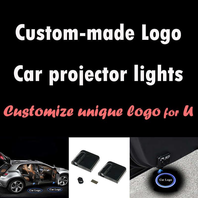 2 шт. на заказ Беспроводной автомобилей проектор света настройки двери автомобиля света логотип автомобиля лазерный проектор Добро пожаловать Свет