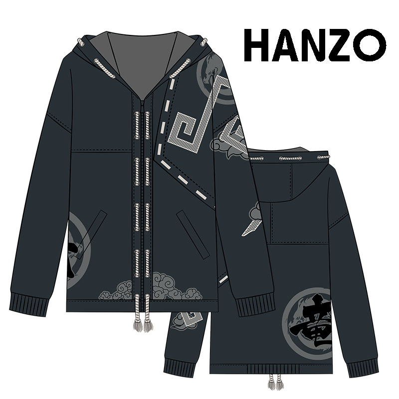 2017 Winter High Restore Details!Game OW Hanzo Cotton Fleece Coat Cosplay Hoodie Jacket Thicken Top free shipping