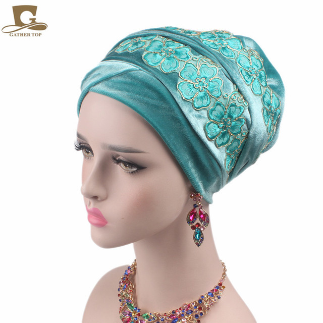Turban - Page 2 New-Luxury-3D-flower-Velvet-Nigerian-Turban-long-Head-Wrap-headwrap-stylish-head-scarf-Hijab-cap.jpg_640x640