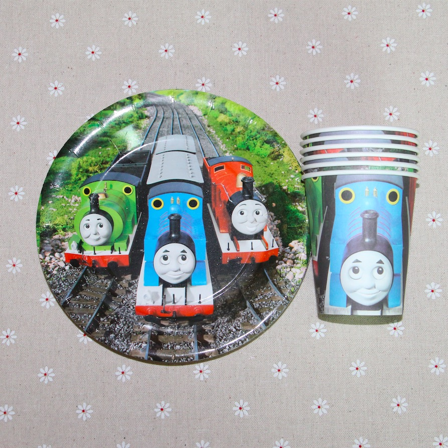 60pcs Thomas train theme 30pcs cups+30pcs plates for Kids birthday party decoration 20people use  sc 1 st  AliExpress.com & 60pcs Thomas train theme 20napkins+20plates+20cups Children Party ...
