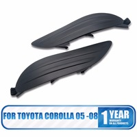 2PCS Pair For Toyota Corolla 2005 - 08 Fog Light Lamp Bumper Cover Insert RH LH frame