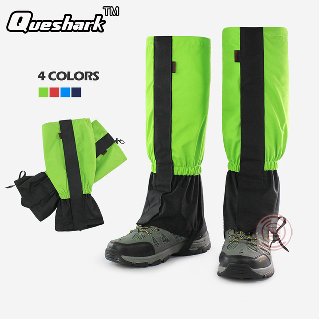 Men Women's Waterproof Fleece Snow Legging Gaiters Outdoor Sport Hiking Climbing Trekking Cycling Leg Warmers Ski Boots Gaiter